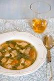 De soep van de paddestoelenspinazie Royalty-vrije Stock Fotografie