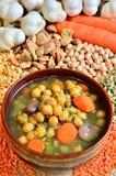 De soep van de peulvrucht Stock Fotografie
