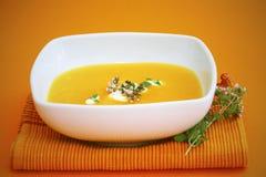 De soep van de pompoen Stock Afbeelding