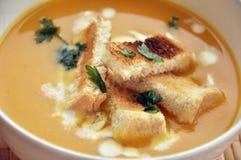 De soep van de pompoen Royalty-vrije Stock Afbeeldingen