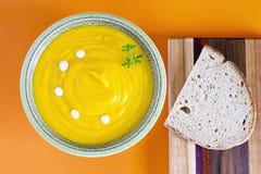 De soep van de pompoen Royalty-vrije Stock Afbeelding
