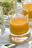De soep van de pompoen en van de tomaat. Royalty-vrije Stock Fotografie