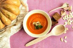 De soep van de pompoenroom Royalty-vrije Stock Fotografie