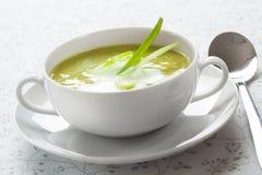 De soep van de prei Royalty-vrije Stock Afbeeldingen