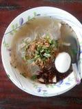 De Soep van de rijstnoedel Stock Foto's