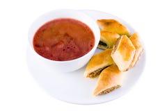 De soep van de rood-biet Stock Foto
