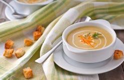 De soep van de room stock foto's