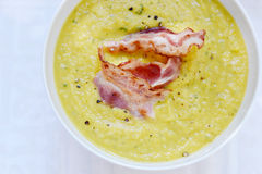 De soep van de room met bacon Royalty-vrije Stock Fotografie