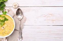 De soep van de room met paddestoelen Royalty-vrije Stock Afbeeldingen