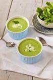 De soep van de roomspinazie Stock Foto