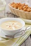 De soep van de saffraan stock afbeelding
