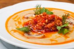 De soep van de snijboon stock afbeelding