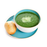 De soep van de spinazie Royalty-vrije Stock Fotografie