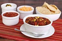 De Soep van de taco met geassorteerde specerijen royalty-vrije stock fotografie