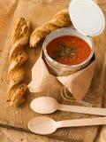 De soep van de tomaat royalty-vrije stock foto