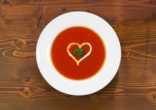 De soep van de tomaat stock fotografie