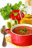 De soep van de tomaat. royalty-vrije stock afbeeldingen