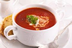 De soep van de tomaat royalty-vrije stock afbeeldingen