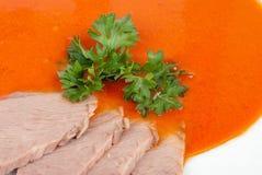 De soep van de tomaat stock afbeeldingen