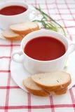 De soep van de tomaat Royalty-vrije Stock Fotografie