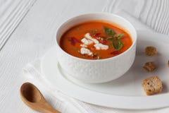 De soep van de tomaat Royalty-vrije Stock Foto's