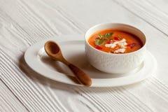 De soep van de tomaat Stock Afbeelding