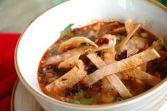 De soep van de tortilla Stock Fotografie