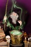De soep van de tovenaar stock afbeelding