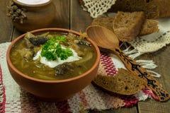 De soep van de Valaamkool stock foto's