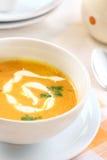 De soep van de wortel Stock Fotografie