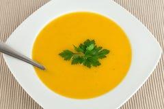De soep van de wortel. Royalty-vrije Stock Fotografie