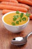 De soep van de wortel royalty-vrije stock afbeelding
