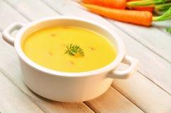 De soep van de wortel Stock Foto