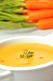 De soep van de wortel Royalty-vrije Stock Foto's
