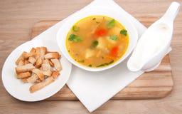 De soep van erwten Stock Fotografie