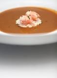 De soep van garnalen Stock Fotografie