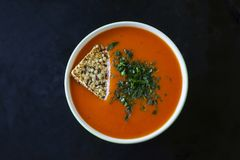 De soep van Gazpacho Royalty-vrije Stock Foto