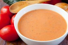 De soep van Gazpacho royalty-vrije stock foto's
