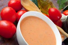 De soep van Gazpacho royalty-vrije stock afbeeldingen