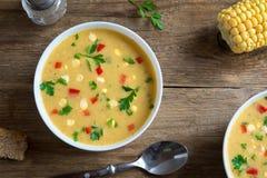 De Soep van de graanvissoep stock afbeeldingen