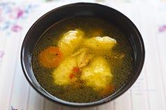 De soep van griesmeelbollen Royalty-vrije Stock Afbeelding