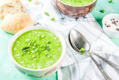 De Soep van de groene Erwt Royalty-vrije Stock Foto's