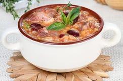 De soep van Harira royalty-vrije stock fotografie