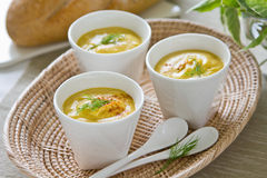 De soep van het graan stock foto's