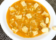De soep van het knoflook Royalty-vrije Stock Foto's