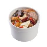 De soep van het kruid met eend in stijl van het potten de Chinese voedsel royalty-vrije stock fotografie