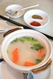 De soep van het lam stock afbeeldingen