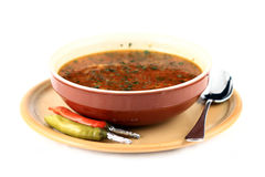 De soep van het rundvlees Stock Foto's