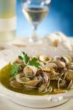 De soep van het tweekleppige schelpdier stock foto's