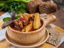 De soep van het vlees stock fotografie